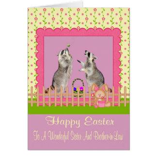 Pascua a la tarjeta de felicitación de la hermana