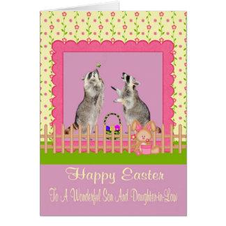 Pascua a la tarjeta de felicitación del hijo y de