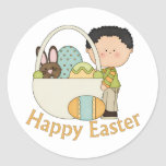 Pascua adorable embroma camisetas, tarjetas y a pegatinas redondas