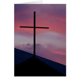 Pascua - alabanza de la mañana tarjeta de felicitación