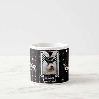 Pascua - algún conejito ama YouCoton deTulear Taza Espresso
