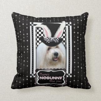 Pascua - algún conejito le ama - algodón de Tulear Almohadas