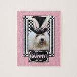 Pascua - algún conejito le ama - algodón de Tulear Rompecabeza Con Fotos