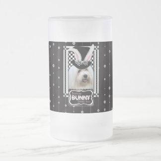 Pascua - algún conejito le ama - algodón de Tulear Taza De Cristal