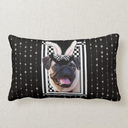 Pascua - algún conejito le ama - barro amasado cojines