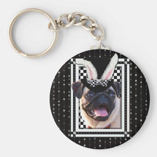 Pascua - algún conejito le ama - barro amasado llavero personalizado