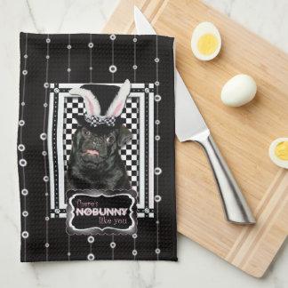 Pascua - algún conejito le ama - barro amasado Ruf Toallas