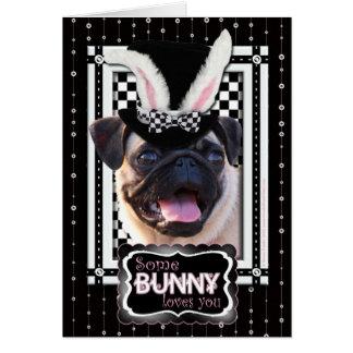 Pascua - algún conejito le ama - barro amasado tarjeta de felicitación