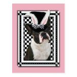 Pascua - algún conejito le ama - Boston Terrier