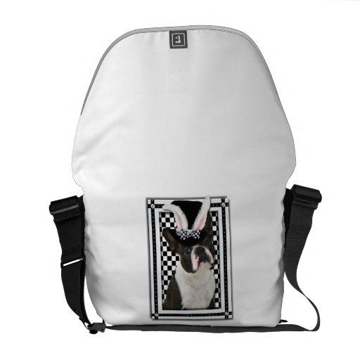 Pascua - algún conejito le ama - Boston Terrier Bolsa Messenger