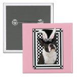 Pascua - algún conejito le ama - Boston Terrier Pin