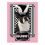 Pascua - algún conejito le ama - Boston Terrier Postal