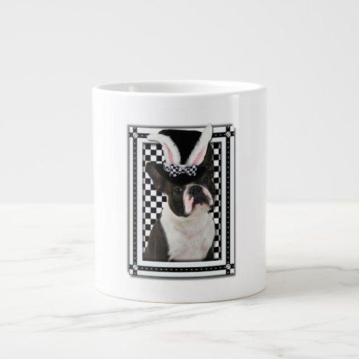 Pascua - algún conejito le ama - Boston Terrier Tazas Jumbo