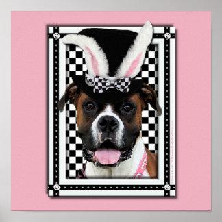 Pascua - algún conejito le ama - boxeador posters