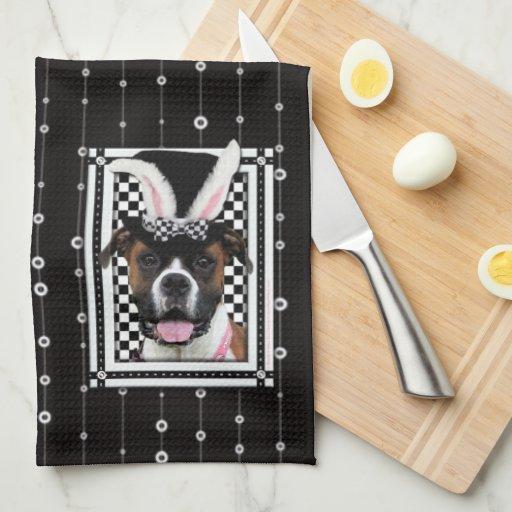 Pascua - algún conejito le ama - boxeador toallas de mano