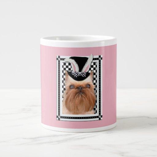 Pascua - algún conejito le ama - Bruselas Griffon Taza Grande