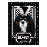 Pascua - algún conejito le ama - caballeros tricol tarjetas