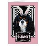 Pascua - algún conejito le ama - caballeros tricol felicitaciones