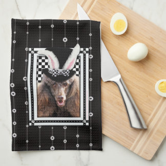 Pascua - algún conejito le ama - caniche - chocola toallas de cocina