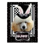 Pascua - algún conejito le ama - caniche - postal