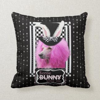 Pascua - algún conejito le ama - caniche - rosa almohadas