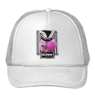 Pascua - algún conejito le ama - caniche - rosa gorro