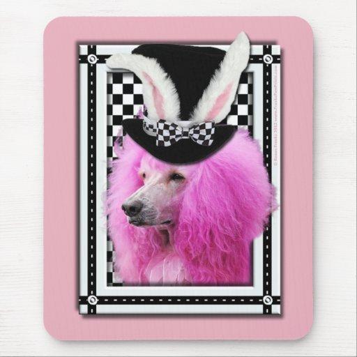 Pascua - algún conejito le ama - caniche - rosa alfombrilla de raton