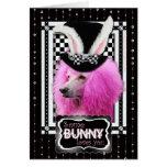 Pascua - algún conejito le ama - caniche - rosa felicitaciones