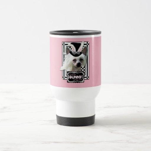 Pascua - algún conejito le ama - chino Crested Taza De Café