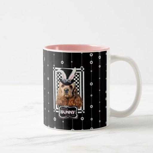 Pascua - algún conejito le ama - cocker spaniel taza