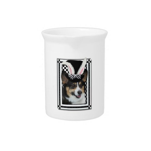 Pascua - algún conejito le ama - Corgi Jarra