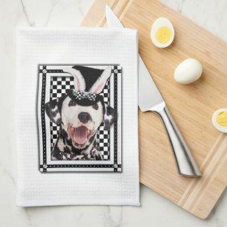 Pascua - algún conejito le ama - Dalmatian Toalla De Cocina