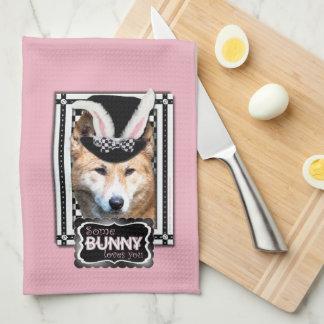 Pascua - algún conejito le ama - Dingo Toalla De Mano