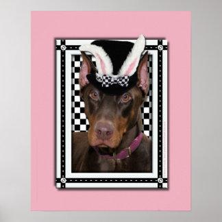 Pascua - algún conejito le ama - Doberman Poster