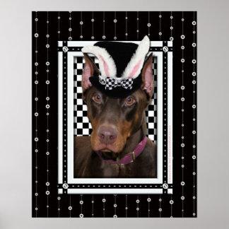 Pascua - algún conejito le ama - Doberman Posters