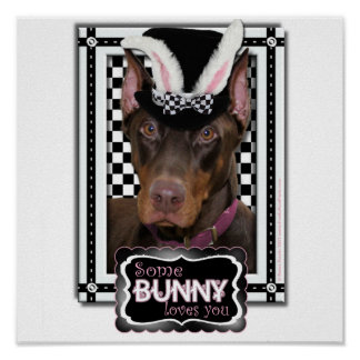 Pascua - algún conejito le ama - Doberman Impresiones
