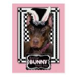 Pascua - algún conejito le ama - Doberman Postal