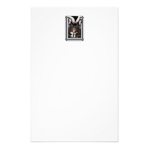 Pascua - algún conejito le ama - dogo francés papeleria de diseño