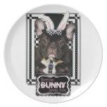 Pascua - algún conejito le ama - dogo francés plato para fiesta