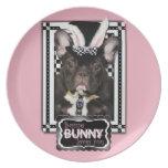 Pascua - algún conejito le ama - dogo francés platos