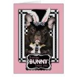 Pascua - algún conejito le ama - dogo francés felicitaciones