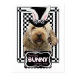 Pascua - algún conejito le ama - GoldenDoodle Postal