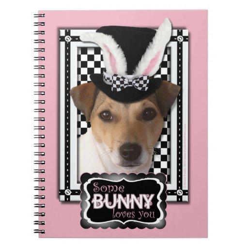 Pascua - algún conejito le ama - Jack Russell Libro De Apuntes