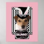Pascua - algún conejito le ama - Jack Russell Posters