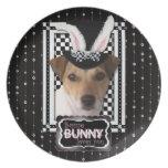 Pascua - algún conejito le ama - Jack Russell Platos De Comidas