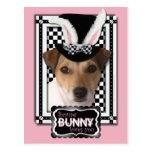 Pascua - algún conejito le ama - Jack Russell Postal