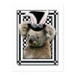 Pascua - algún conejito le ama - koala postal