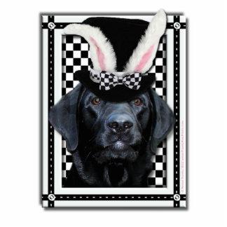 Pascua - algún conejito le ama - Labrador - negro Fotoescultura Vertical