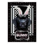 Pascua - algún conejito le ama - Labrador - negro Felicitaciones