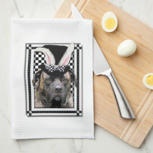 Pascua - algún conejito le ama - mastín toallas de cocina